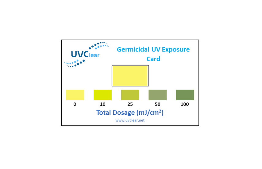 ClearDose UVC Dosage Card - 10 Pack