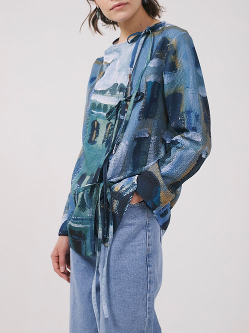 Рубашка с лентами «Набережная Мойки»