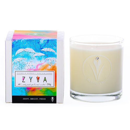 ZYVA PERFUMED CANDLE / misty zest