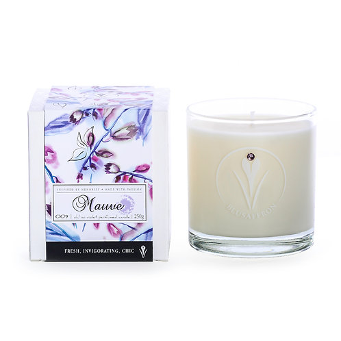 MAUVE PERFUMED CANDLE / oh! so violet