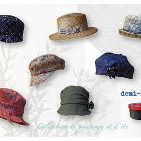 春・夏・帽子