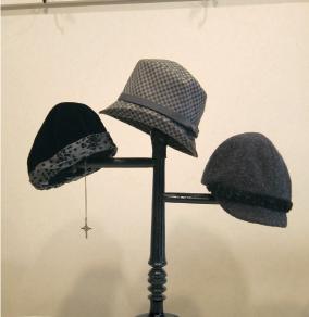 秋冬の帽子展