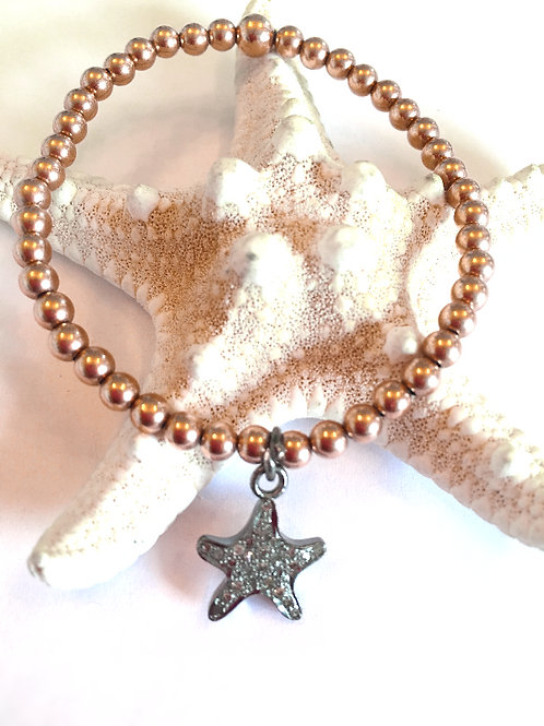 Rose Gold Sea Star Diamond Bracelet