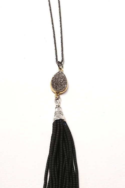 Tulum Twinkle Tassel Necklace