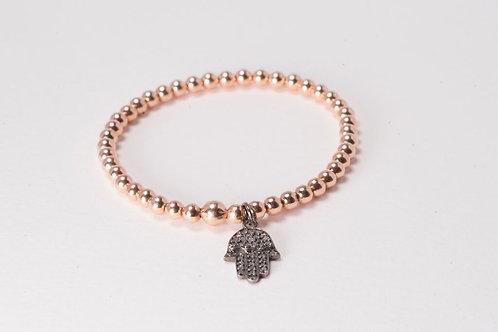 Rose Gold Hamsa Diamond Bracelet