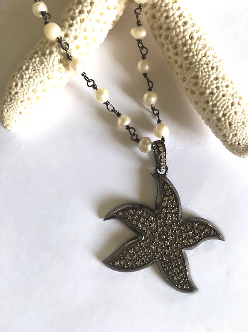 Diamond Sea Star Necklace