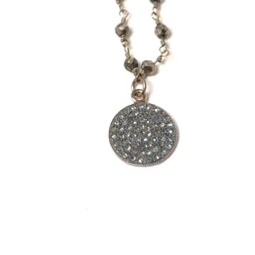 Diamond Disc Melancholy Necklace