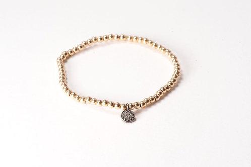 Rose Gold Melancholy Disc Bracelet