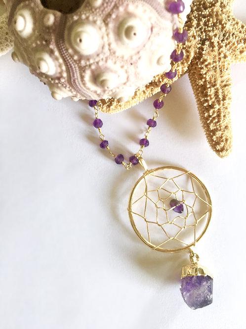 Clarity Dream Catcher Necklace