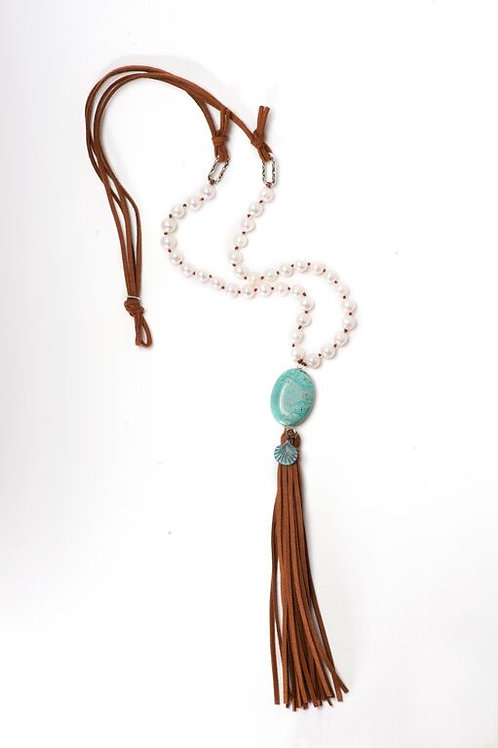 Topanga Beach Tassel Necklace