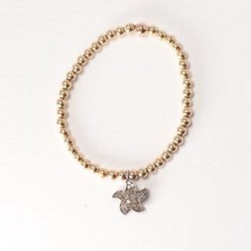 Yellow Gold Sea Star Diamond Bracelet