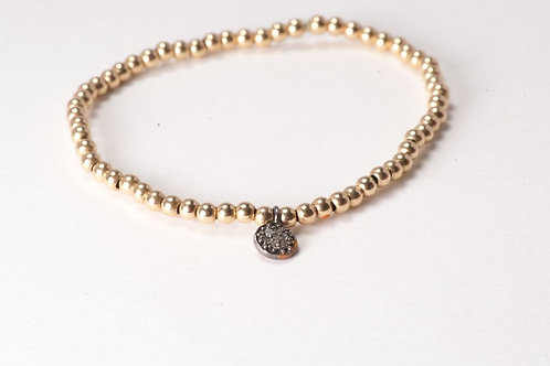 Yellow Gold Melancholy Disc Bracelet