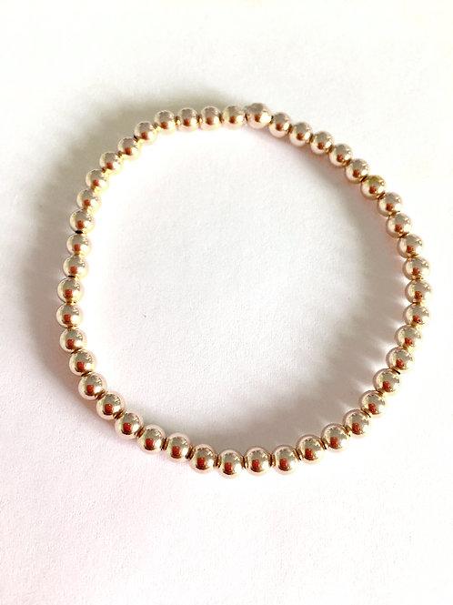 Yellow Gold Beaded Bracelet