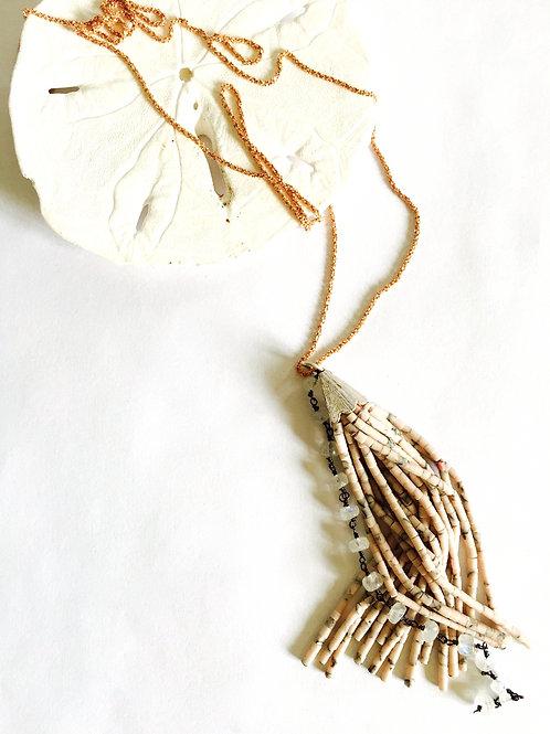 Cancun Twinkle Tassel Necklace