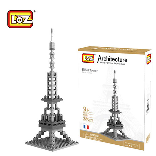Eiffel Tower (Architecture, LOZ Diamond Block)