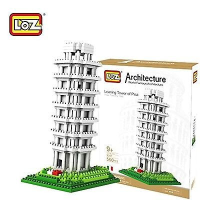 Leaning Tower of Pisa (Architecture, LOZ Diamond Block)