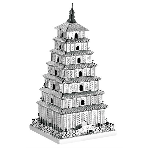 Wild Goose Pagoda (Architecture) Metal 3D Puzzle