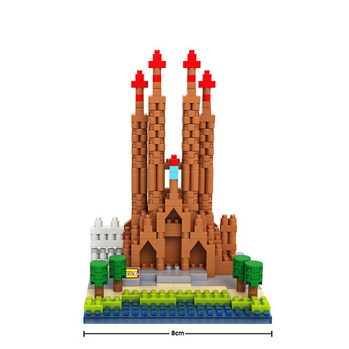 Sagrada Familia (Architecture, LOZ Diamond Block)