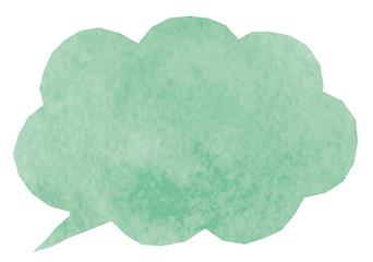 水彩吹き出し緑.png