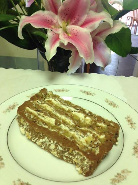 Chocolate Walnut Meringue Tort