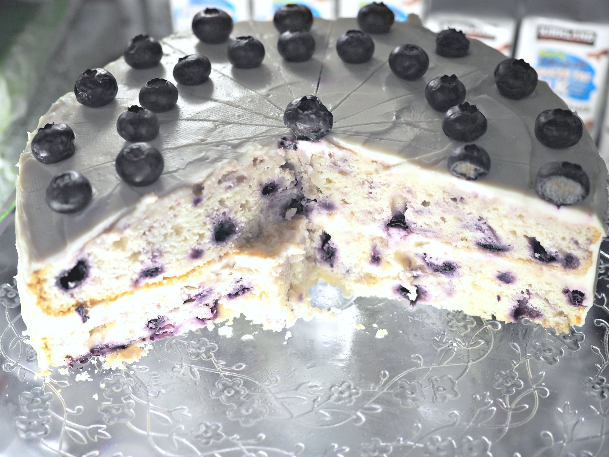 Organic lemon blueberry torte s