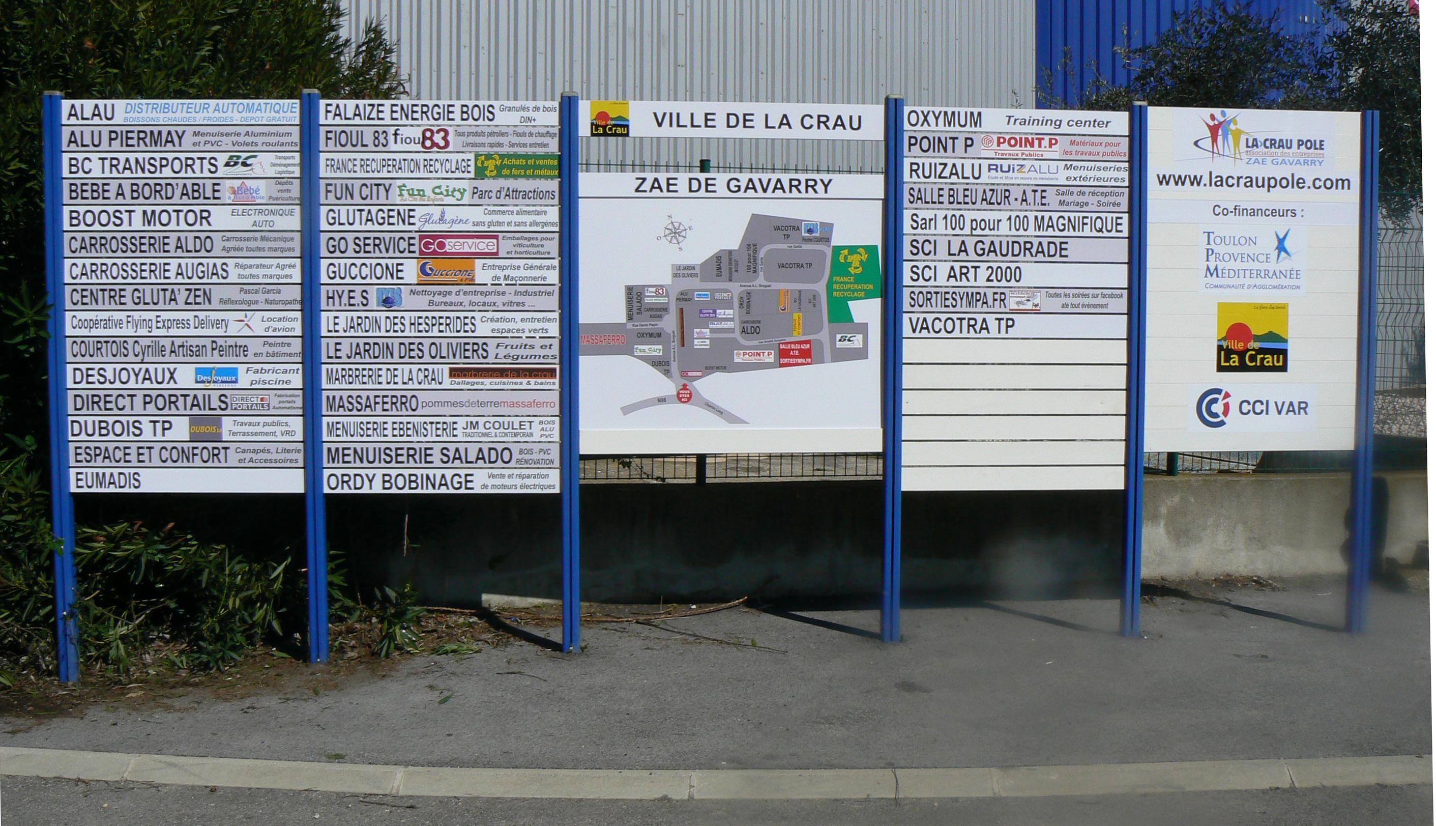 panneau zone industrielle