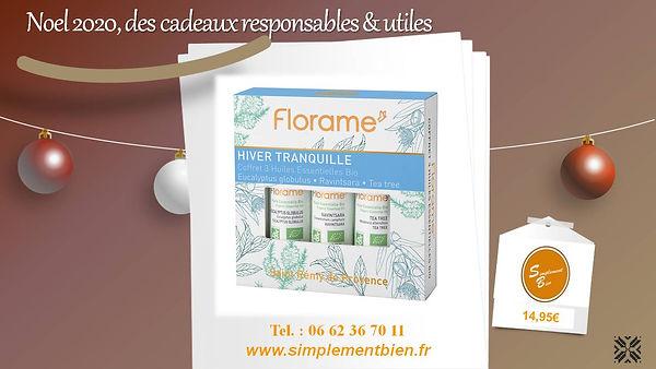 Noël 2020 Coffret Hiver tranquille Coffret Florame Huiles essentielles bio Hiver tranquille Noël 2020 Simplement bien aromathérapie anti viral