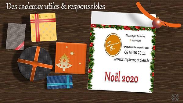 Noel 2020 massage bien-être beauté Offres simplement bien cadeau Noël bien-être bon cadeau huiles essentielles cosmétiques bio