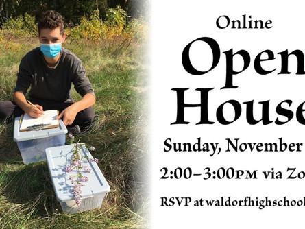 Online Open House, Sun Nov 15