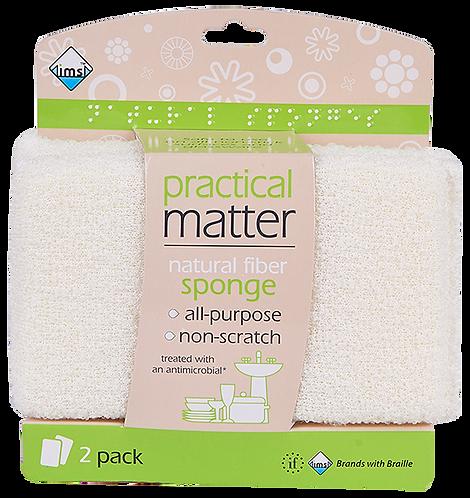 Cotton Fiber Sponge 2pk