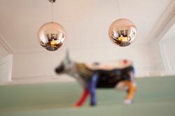 Dining Room copper pendants