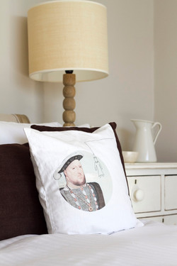 The French Room Henry VIII cushion