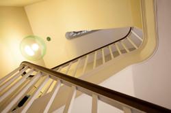 Georgian staircase & Kartell pendant