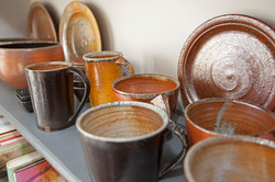 Pieces from Leach Pottery St Ives