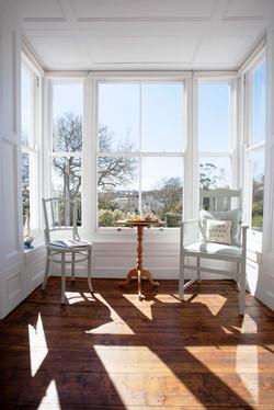 Bay window in the Blue Bedroom