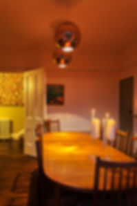 Light the candles in the Dining Room at Myrtle House Penzance for the evening meal ahead