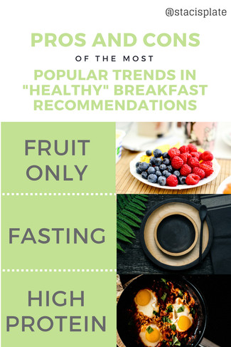 "Pros and Cons of the most Popular Trends in ""Healthy"" Breakfast Recommendations"
