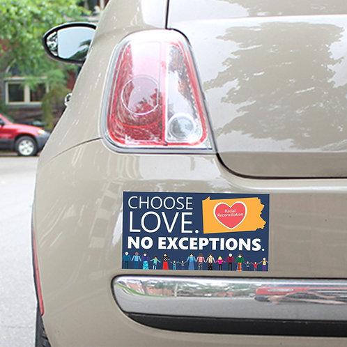 Choose Love Bumper Sticker