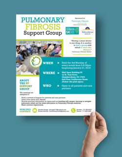 Pulmonary Fibrosis Support Group Flyer