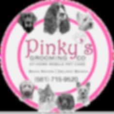pinkys dog grooming logo