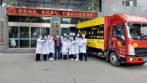 The disinfectants arrived at the hospital in Hubei!