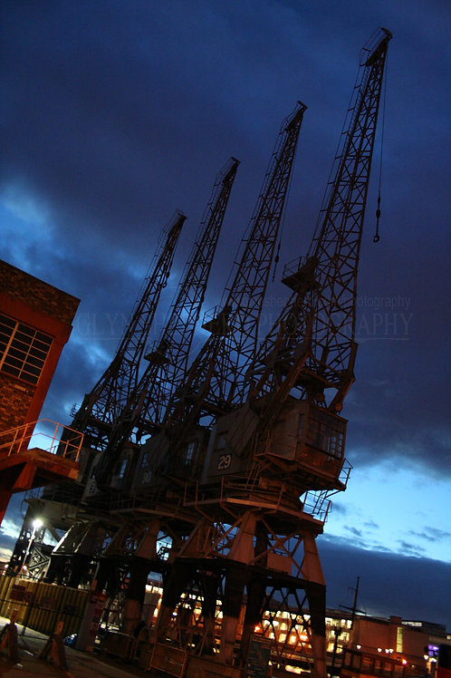 Giants over the docks