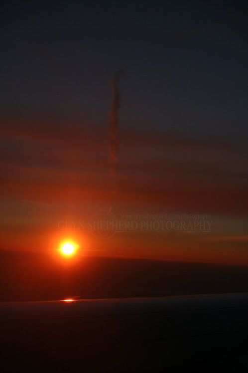 Sunset from a plane 2