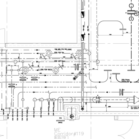 Pipework layout