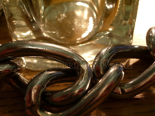 Chain and glass