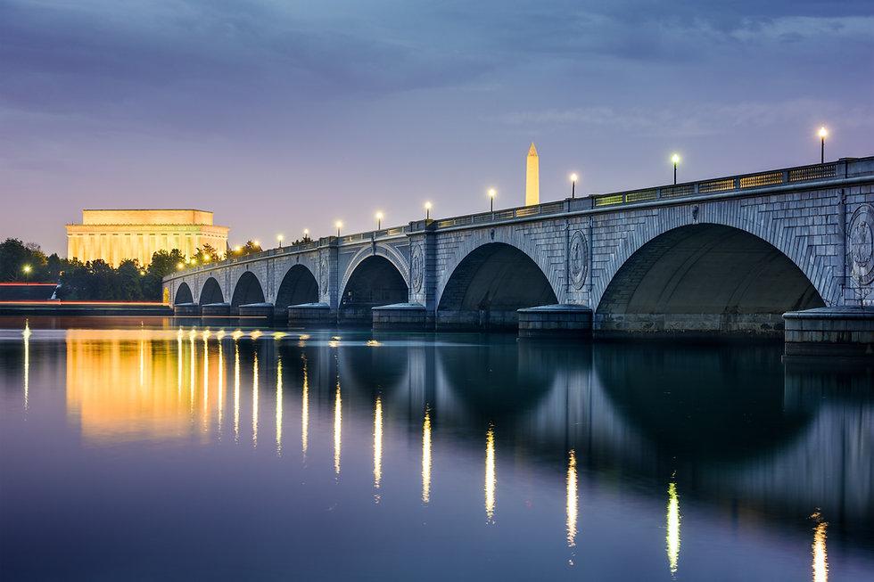 Washington DC, USA skyline on the Potoma