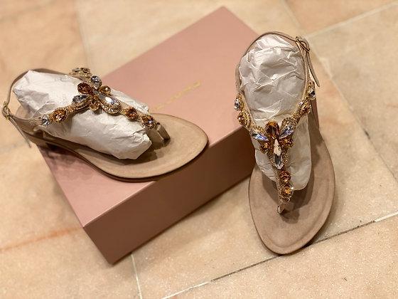 Sandales nude Eddicuomo