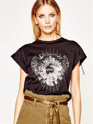 T-Shirt noir Pinko