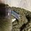 Thumbnail: Châle kaki pompons renard