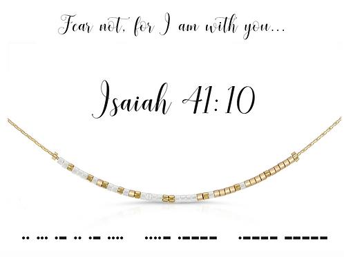 Isaiah 41:10 Morse Code Necklace